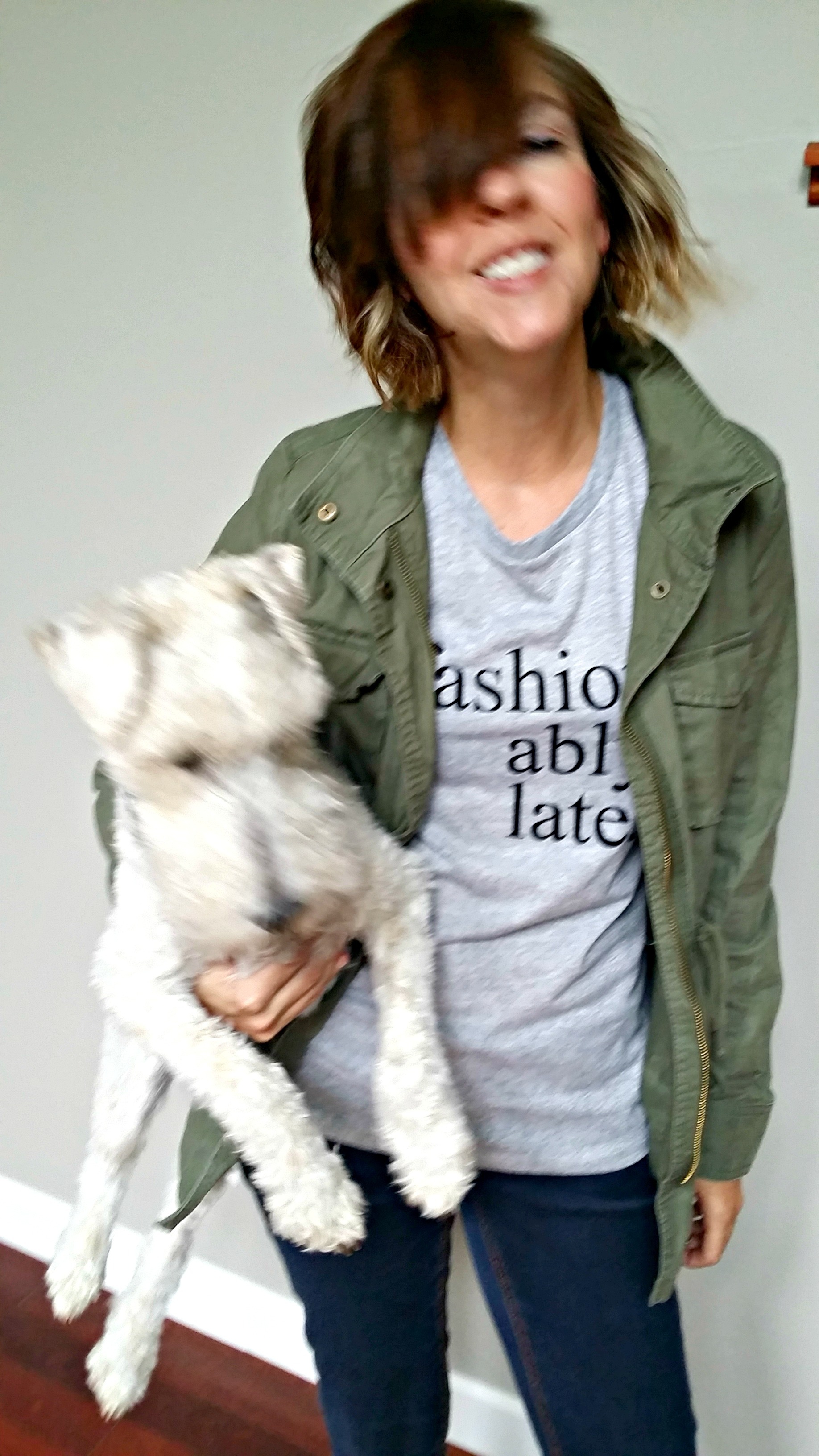 Use the Silhouette Portrait to design a fashionably late tee!