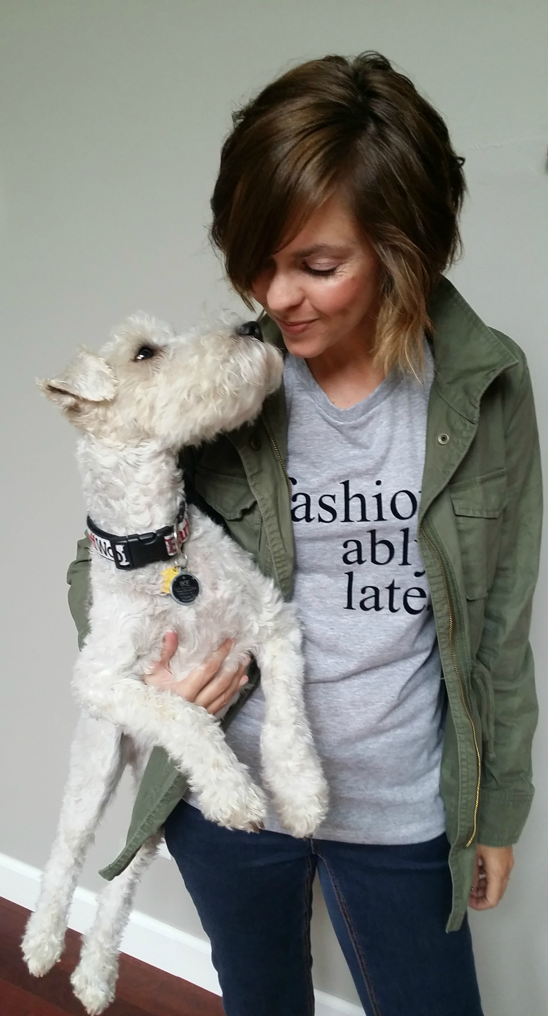 Design a shirt using Silhouette Portrait {Fashionably Late tee}