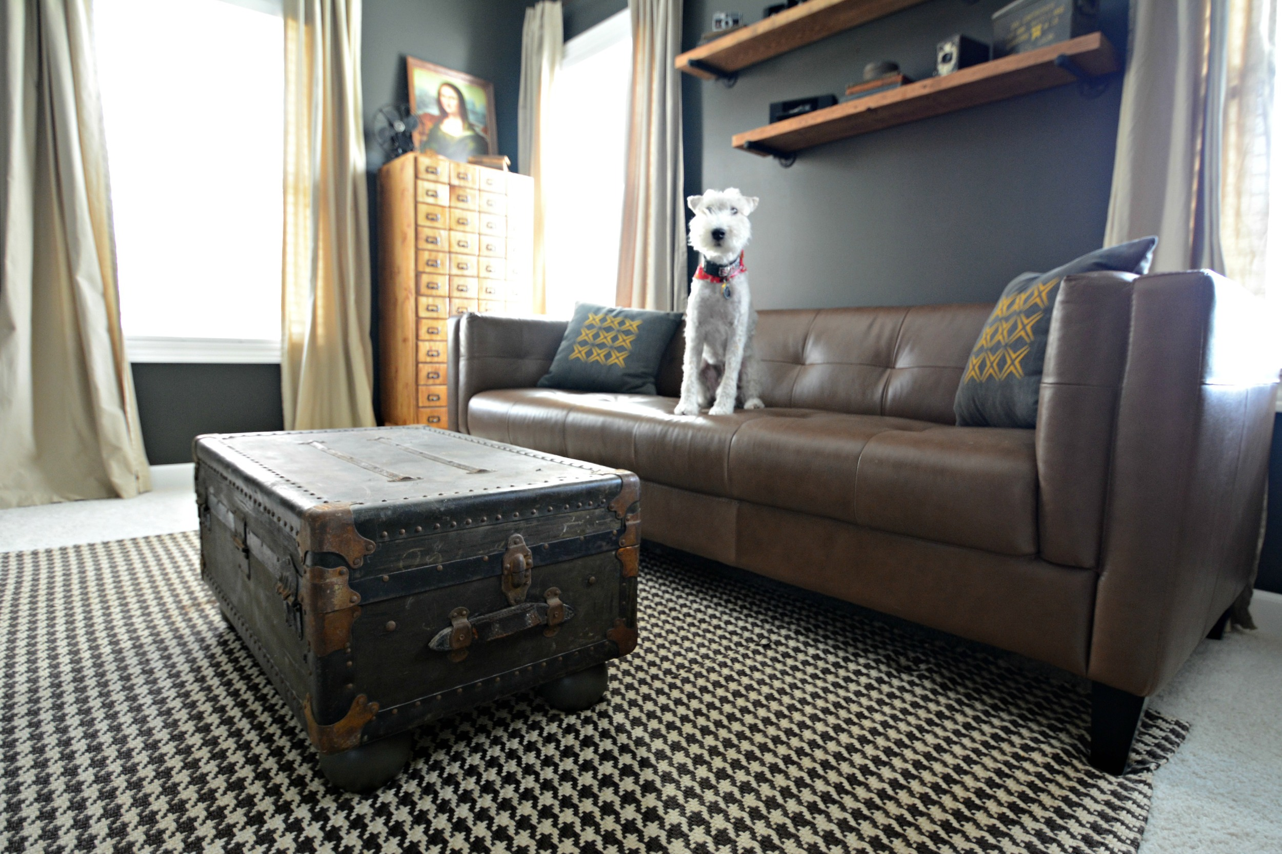 Vintage Trunk Made Into a Coffee Table
