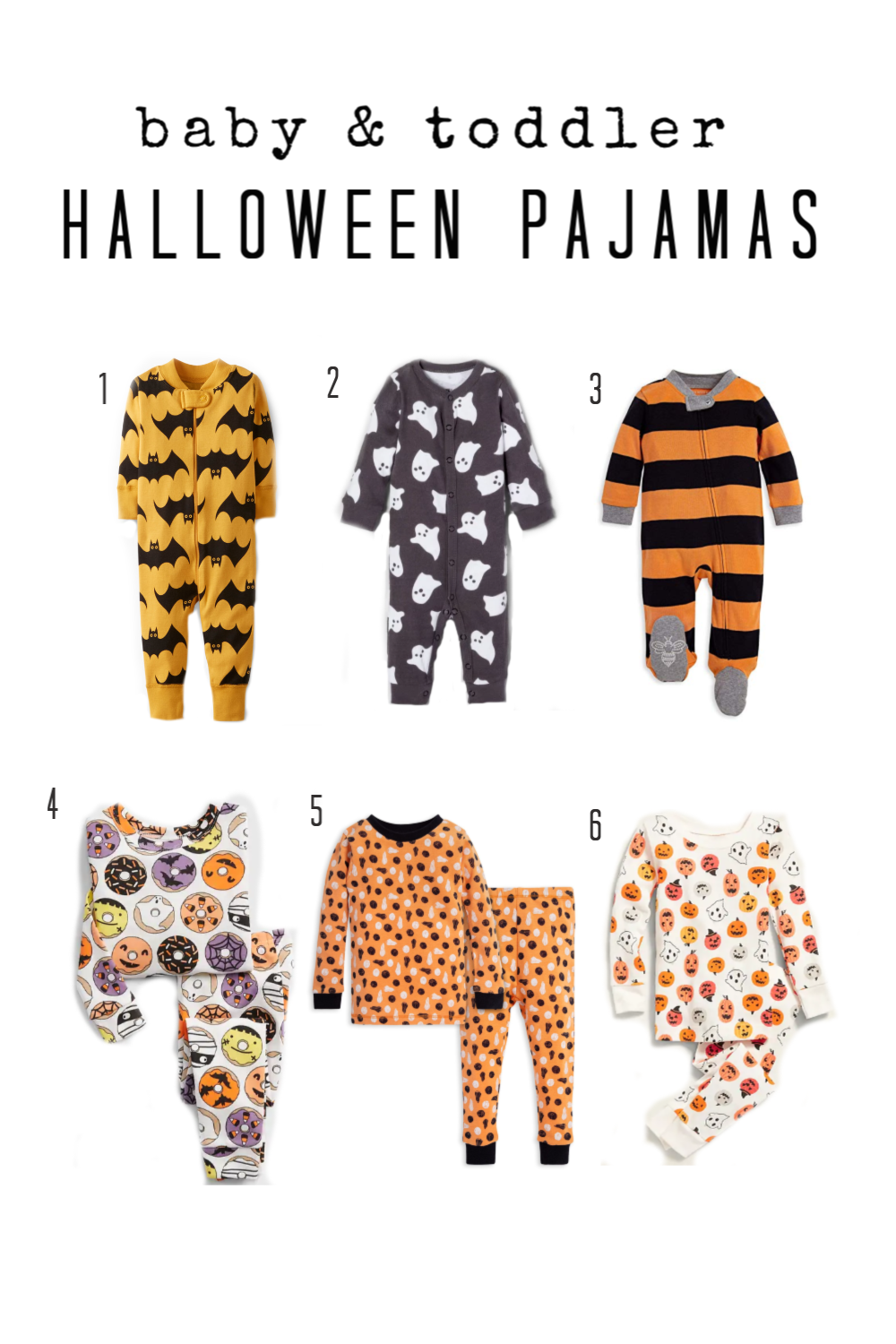 Bats  | Ghosts ( Big Kid ) ( Baby ) |  Halloween Stripes  |  Halloween Donuts  |  Pumpkins and Ghosts  |  Burts Bees Pumpkin