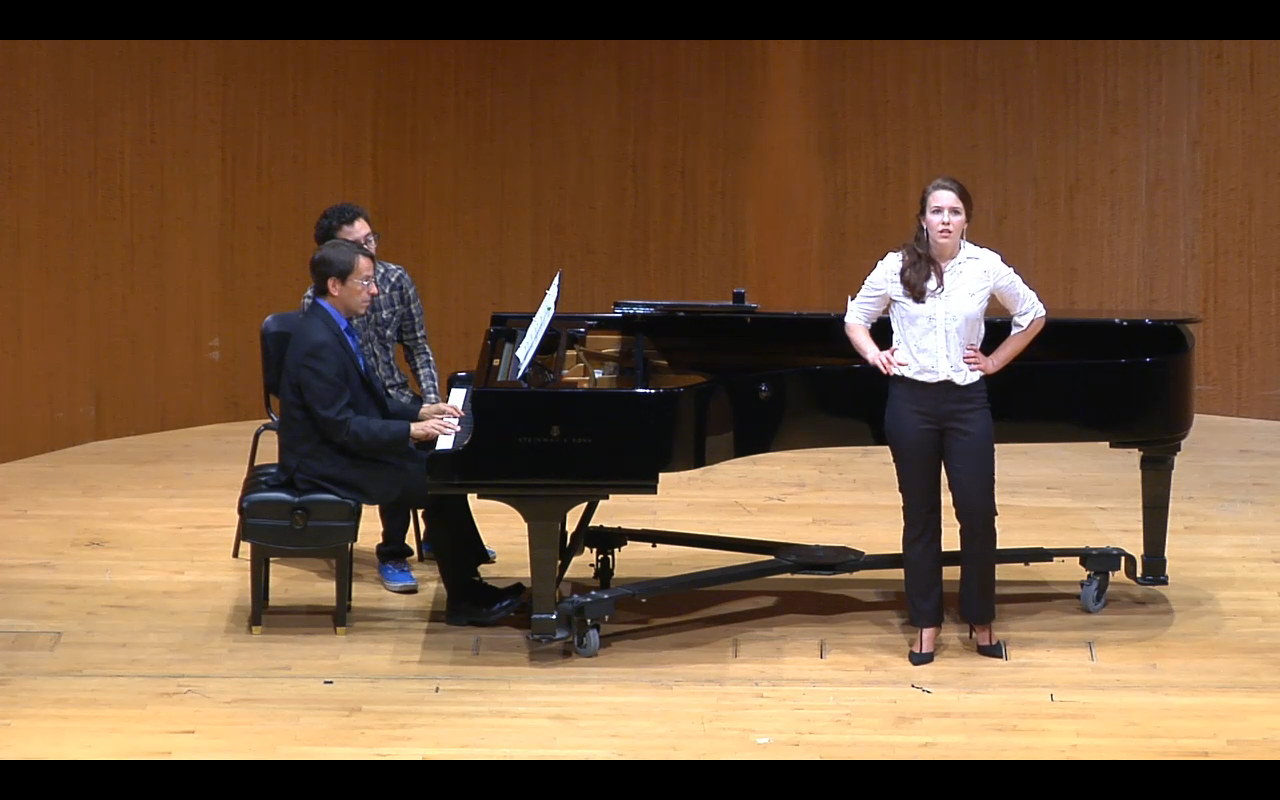 Performing Jake Heggie's  At the Statue of Venus  at the San Francisco Conservatory of Music, 2014
