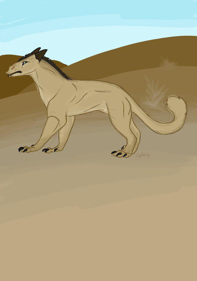 Desert Kitty by Syberwuff (twitter)