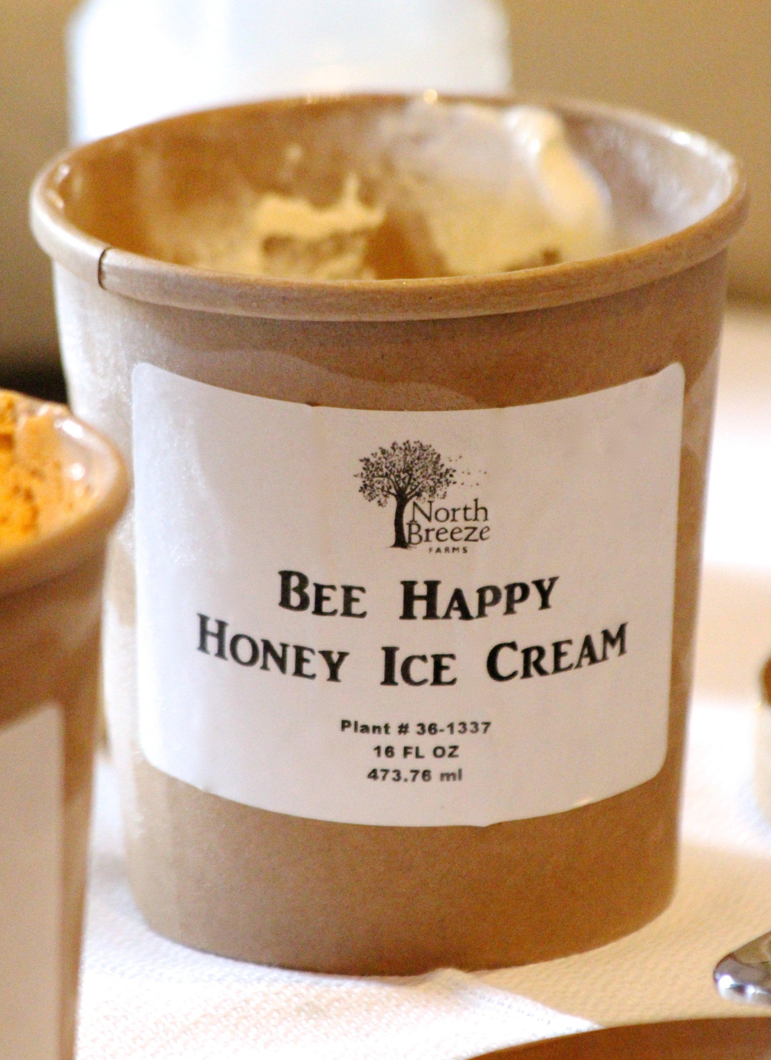 Bee Happy Honey Ice Cream $5.99