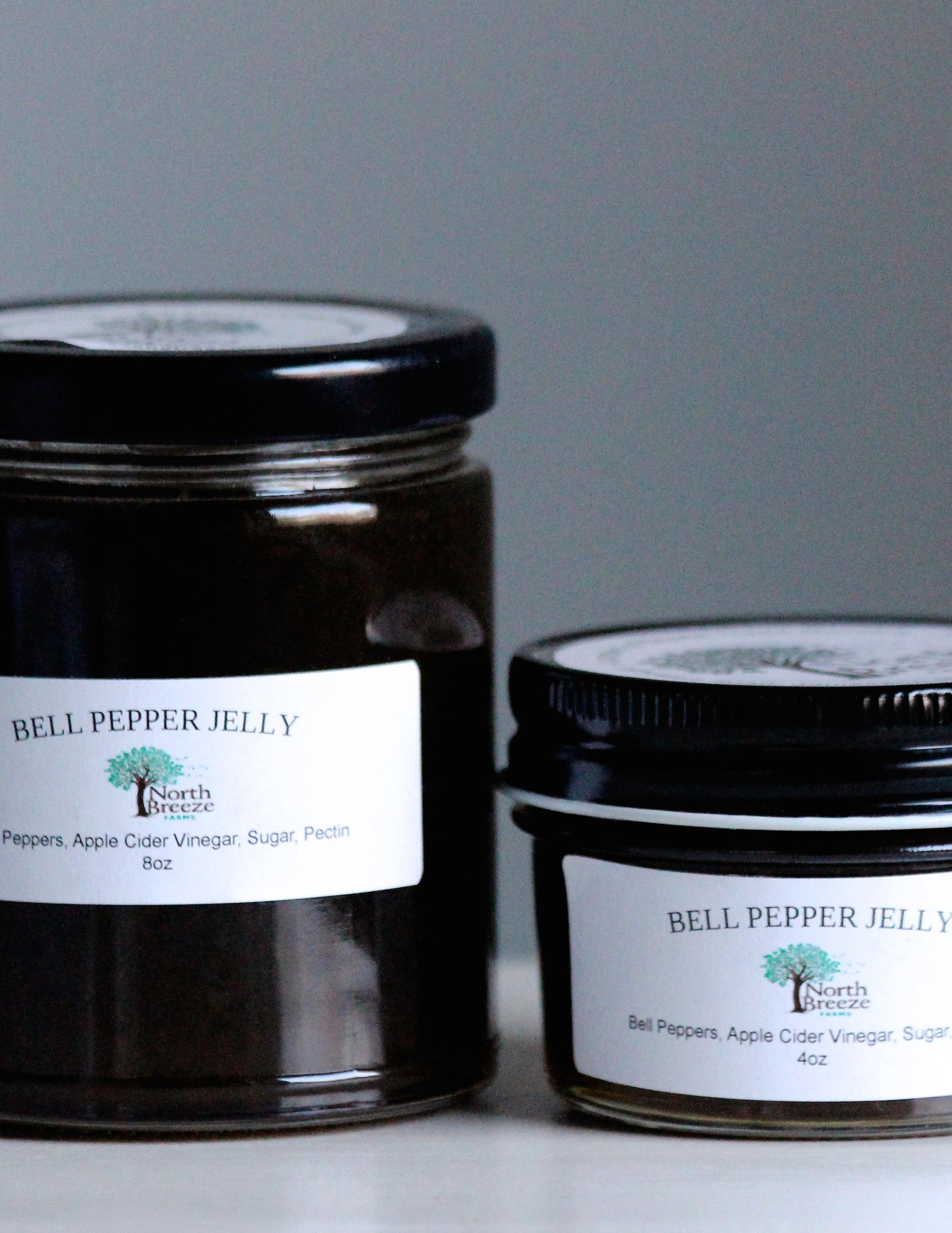 Bell Pepper Jelly 4oz $8, 8oz $12