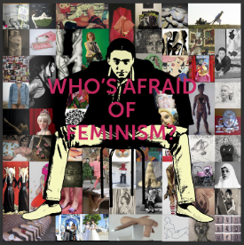 """In July of 2015,my art and essay were published in """"Who's Afraid of Feminism?"""", a catalogue by the  Women's Caucus for Ar t. It has a vast and amazing collection of works by women centered around this question.The catalogue can be purchased on Amazon by clicking here  Women's Caucus for Ar  t or viewed on ISSUU.com published by Karen Gutfreund by following this link  http://issuu.com/karengutfreund/docs/whos_afraid_of_feminism_for_issuu"""