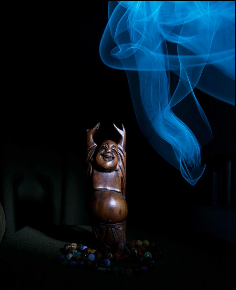 """Buddha with Blue Light"""