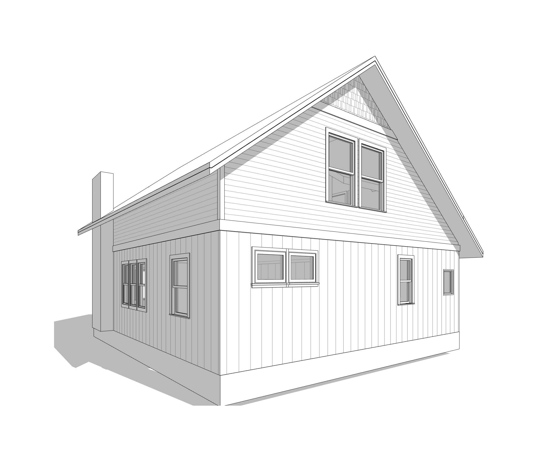 Proposed Cottage 2nd Story Loft Addition (see Image #1 below for before picture).