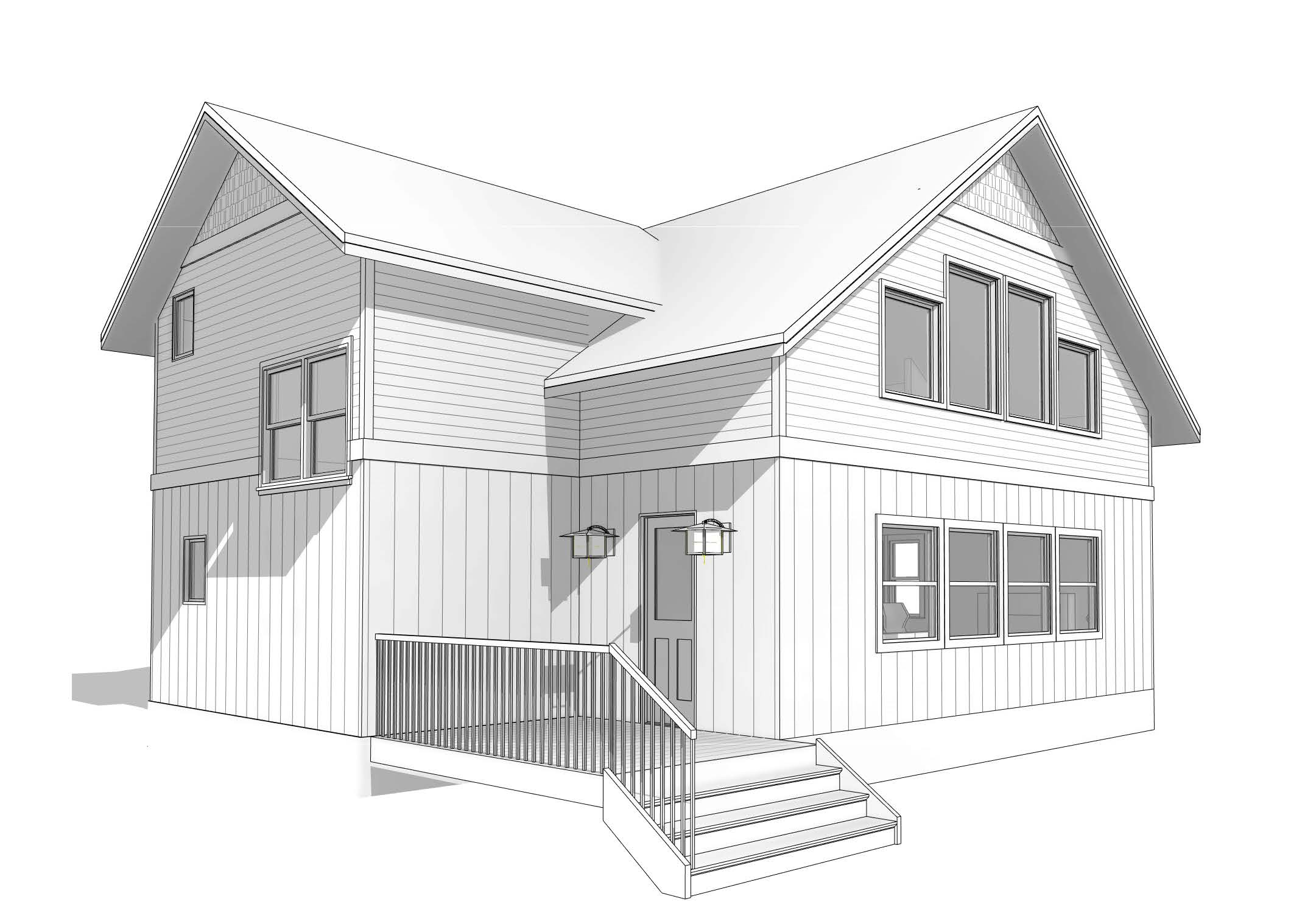 Proposed Cottage 2nd Story Loft Addition (see Image #2 below for before picture).