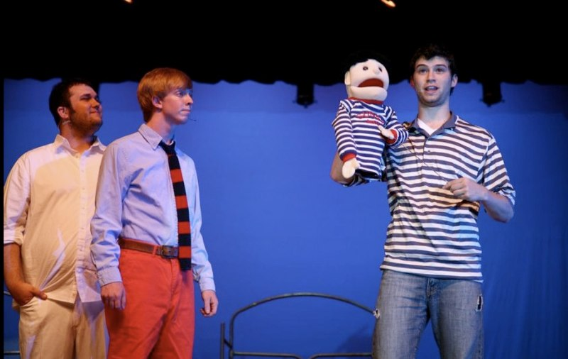 Performing a number from Avenue Q during a Broadway dreams concert.