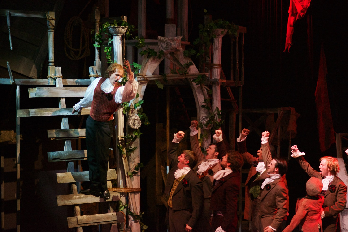 """The People's Song""  from the Atlanta regional premiere of  Les Miserables  at the Aurora Theatre , directed by Justin Anderson.  Photo Credit: Chris Bartelski"