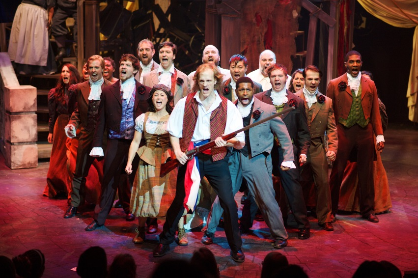 """""""One Day More"""" from the Atlanta regional premiere of  Les Miserables  at the Aurora Theatre, directed by Justin Anderson.   Photo Credit: Chris Bartelski"""
