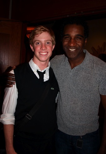 With actor Norm Lewis after our Broadway Dreams show at the Murray Arts Center in Atlanta, GA.