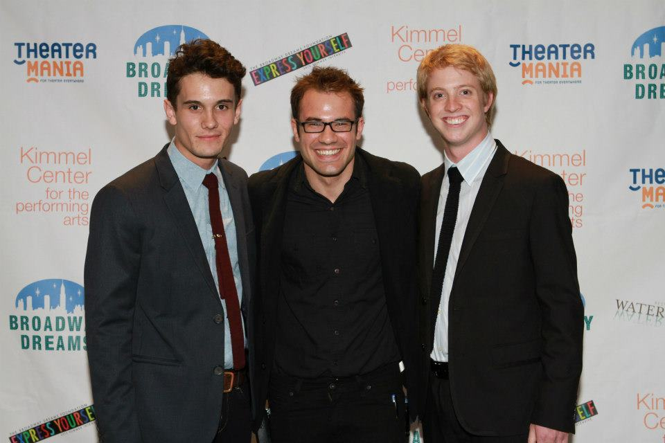 With Rico Lebron and Jake McCoy at a Broadway Dreams concert at the Kimmel Center in Philadelphia, PA.