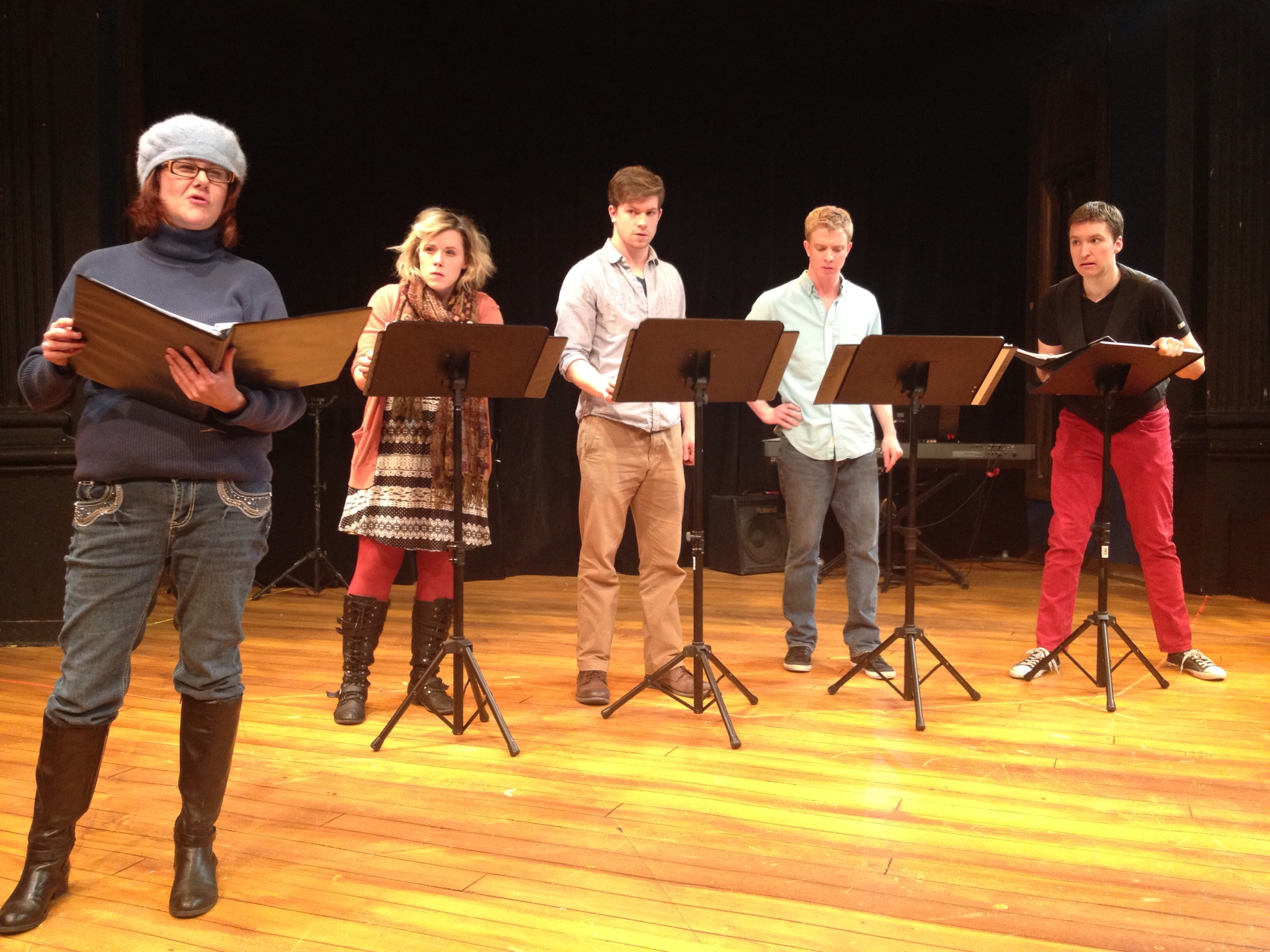 Staged reading of the new musical  Milo at the Movies  at the Aurora Theatre.  Directed by Alexander Greenfield; Book by Tom Diggs; Music & Lyrics by Mark Gaylord; Music Direction by Ann-Carol Pence.