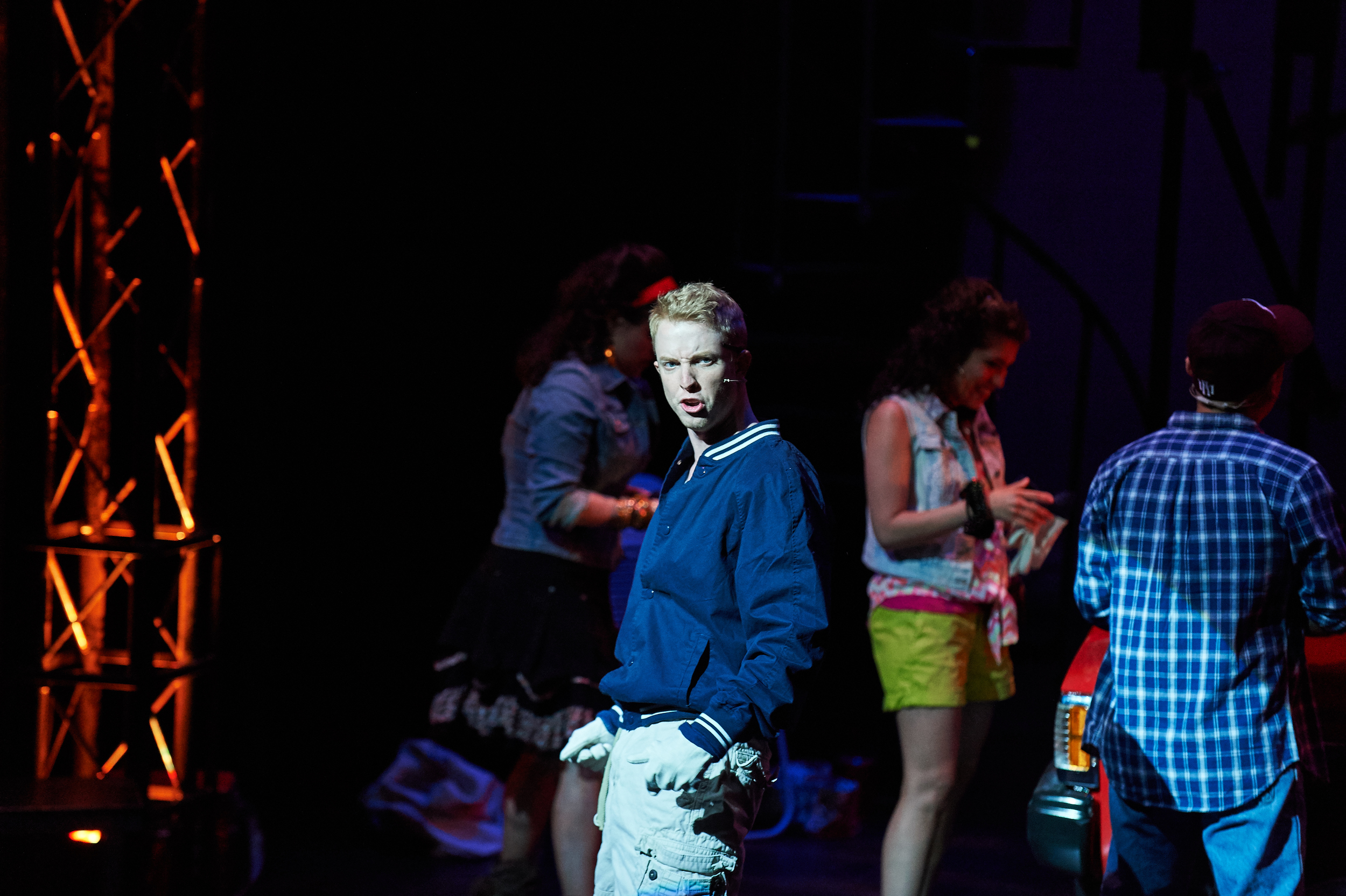 Benjamin in Aurora Theatre's production of  Hands on a Hardbody , directed by Brian Clowdus.  Photo: Chris Bartelski