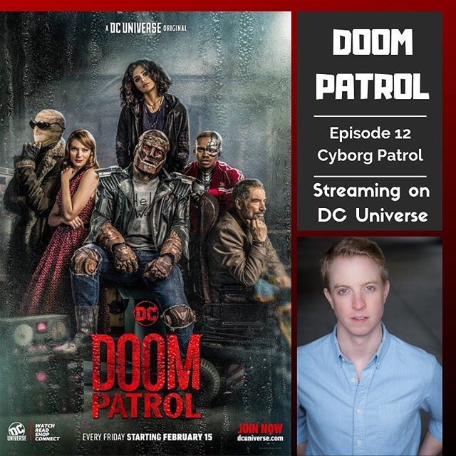 Look ma, I'm in a superhero universe! My episode of @doompatroldcu is streaming now over on @thedcuniverse - You'll sign up for the free trial and then forget to cancel your subscription before your card is charged, but you'll be okay with that because this show is delightful and you're going to end up watching every week. Enormous thanks to my agents over at @peoplestoreagency and to @chase68 @tarafeldsteinbennett and everyone at Doom Patrol!
