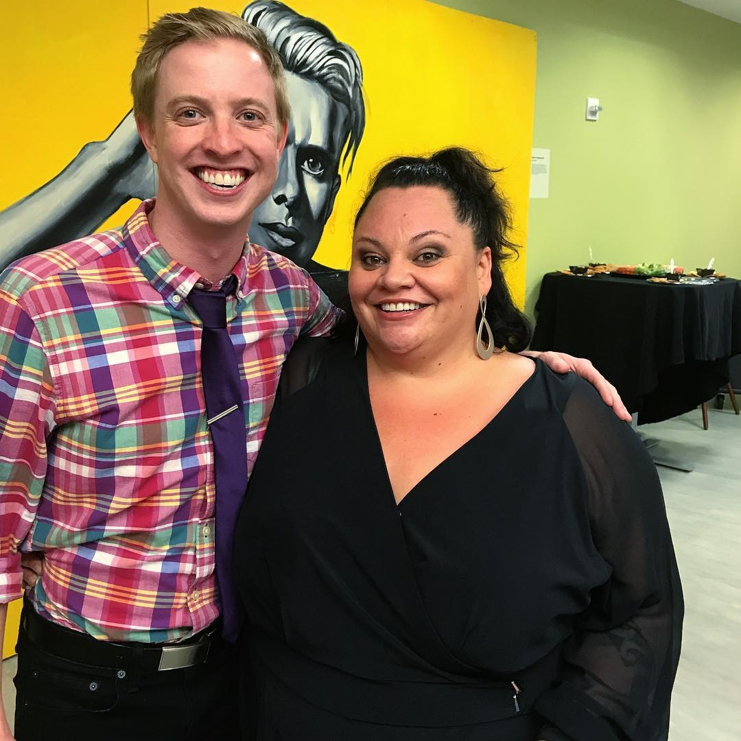With Keala Settle after the Concert for America performance at the Ferst Center in Atlanta, GA.
