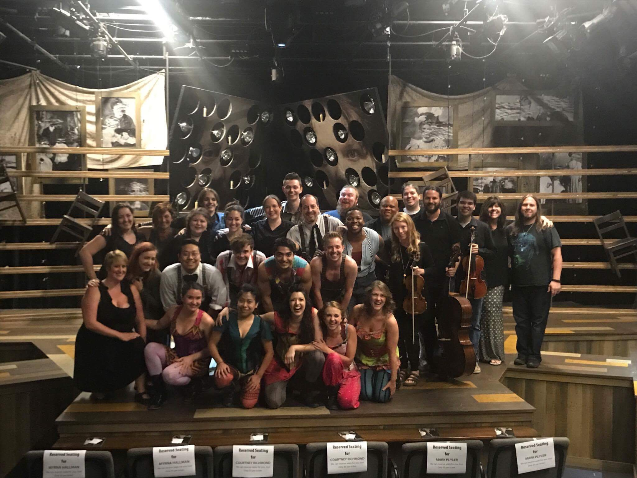Cast and crew of  Spring Awakening  at The Warehouse Theatre.