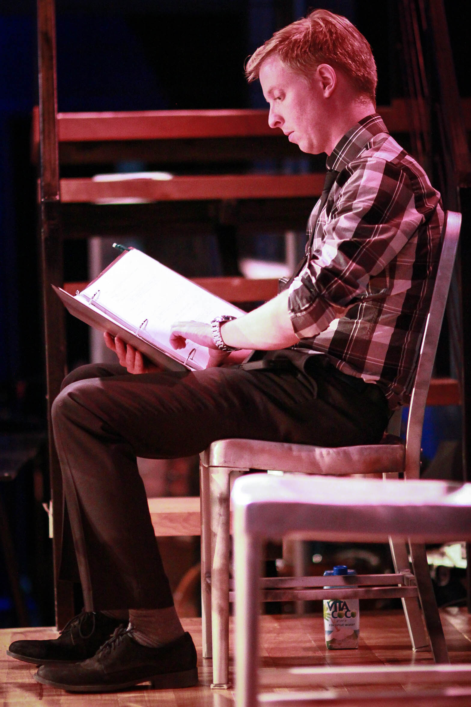 During a staged reading of  What's Past  at the 2016 Atlanta Musical Theatre Festival.