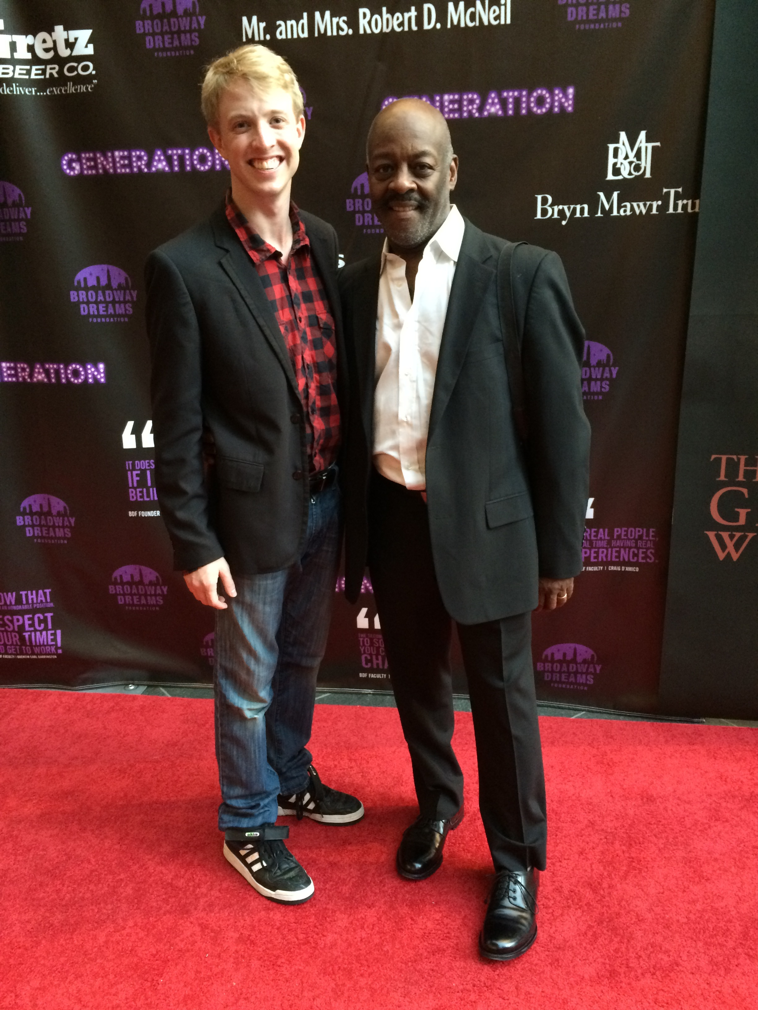 With director Otis Sallid at a Broadway Dreams event in 2014.