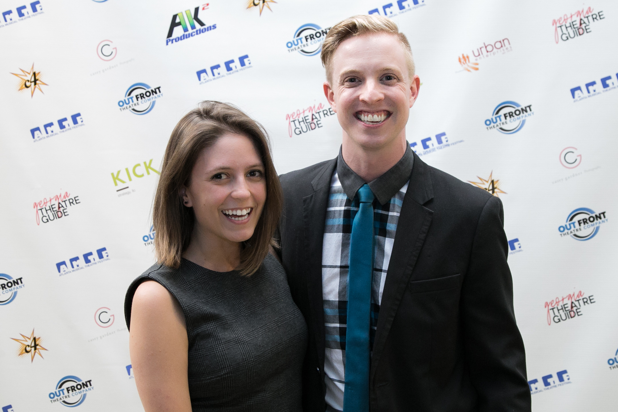 At the 2018 Atlanta Musical Theatre Festival with photography sponsor Casey Gardner.