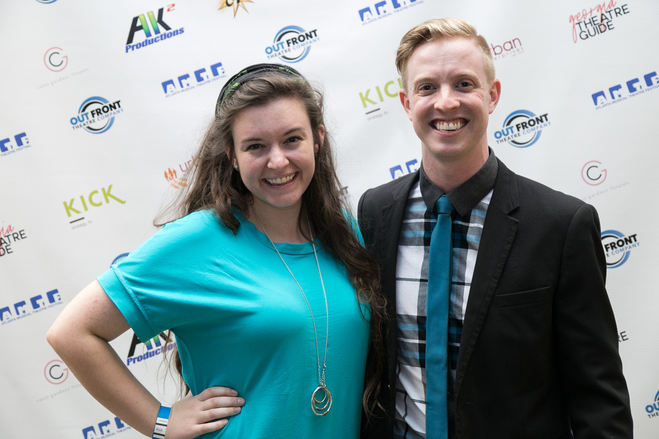 At the 2018 Atlanta Musical Theatre Festival with production manager Caitlin Cain.