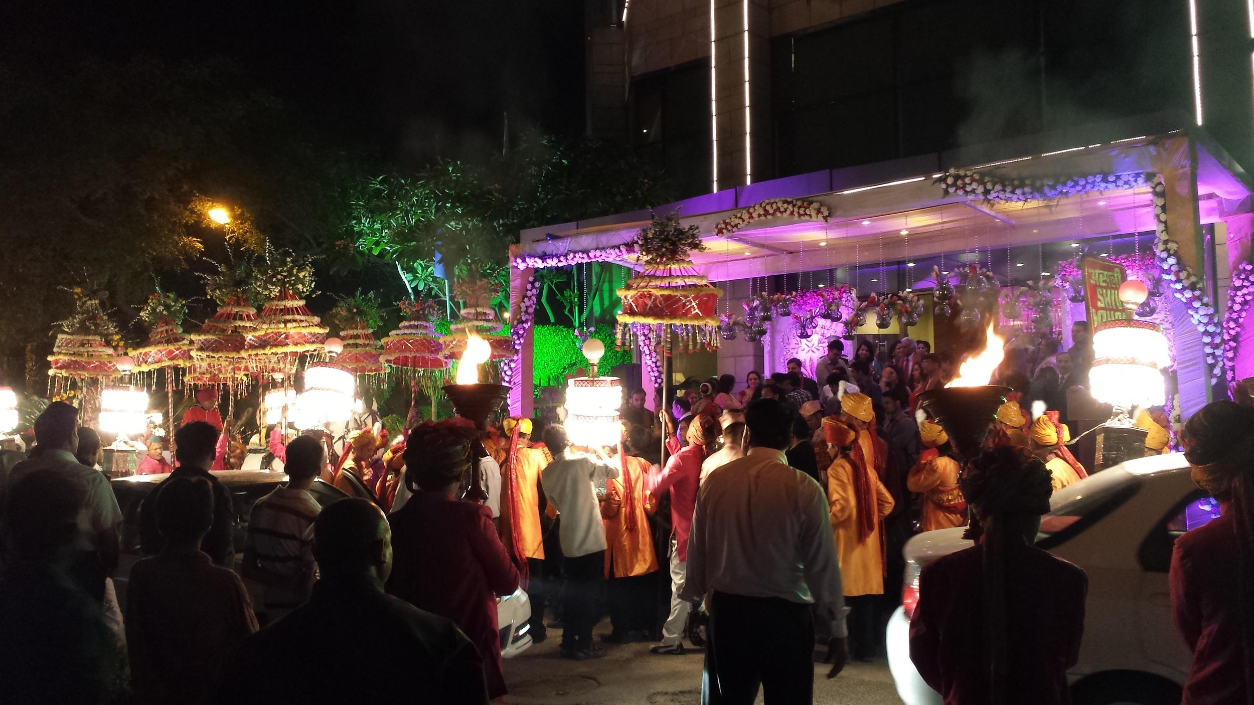 A wedding celebration in Delhi