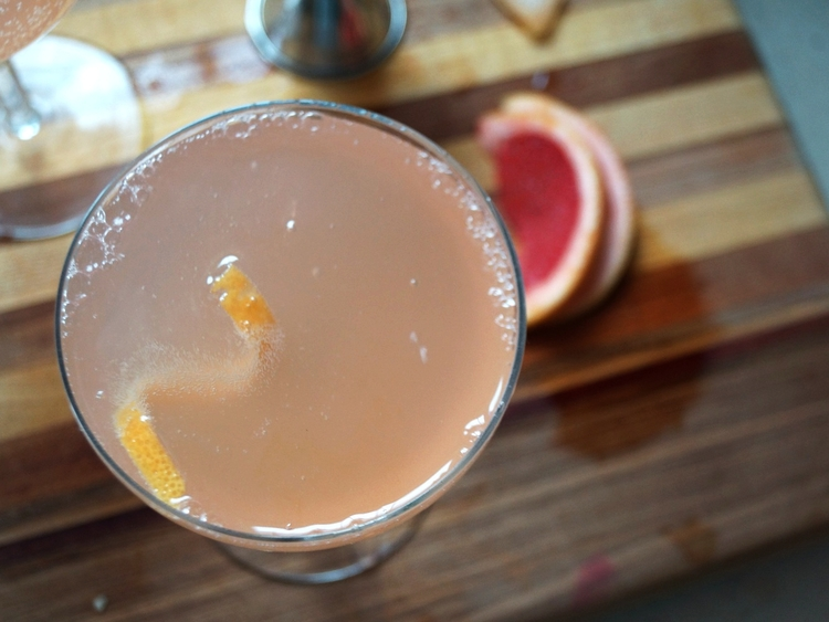 Spiced Grapefruit and Champagne Cocktails