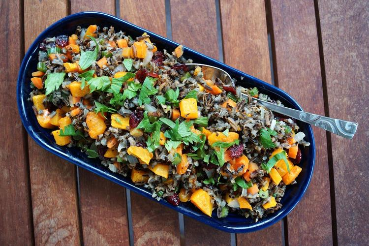 Wild Rice Pilaf with Roasted Butternut Squash