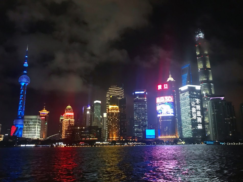 The lights of Shanghai.