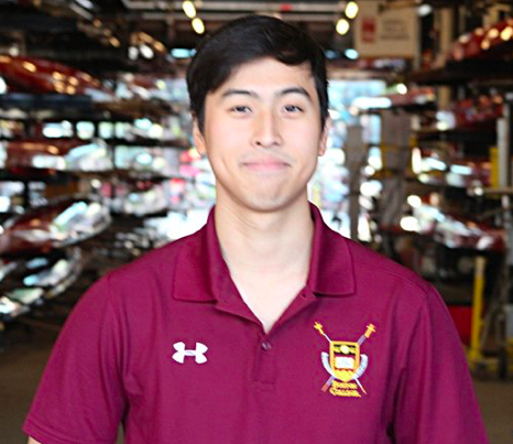 """Kijun Song - Hometown: Seoul, South KoreaClass: 2020Height: 5'11 Weight: 168Bio: Kijun (he goes by """"Key"""") was born and raised in Seoul, Korea. He arrived in the United States to attend Tabor Academy in 2011, where he rowed for three years. He sat bow seat of the 2014-2015 Freshman 8+. After finishing freshman year, Key went back to Korea to serve two years in the Republic of Korea Army. He returned to the team and sat in 3 seat of the 3rd Varsity 8+, which won gold at the NERC and silver at NIRC. He is a biology major, minors in Chinese, and loves bucket hats."""