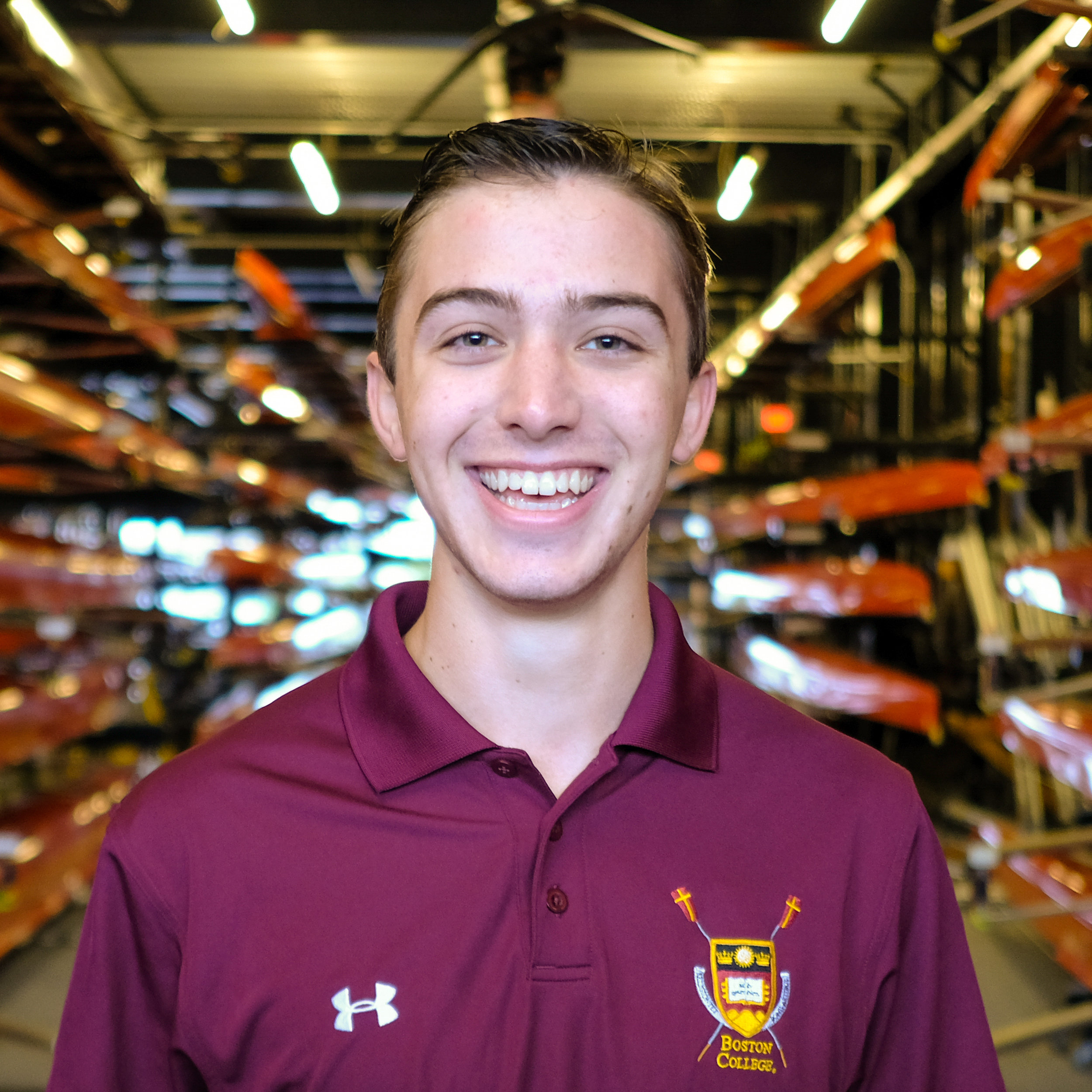 """Brett Weisberg - Hometown: Manhasset, NYClass: 2022Height: 5'10"""" Weight: 160Bio: Brett began his rowing career as a freshman with Manhasset High School where he won a New York State Championship in the Men's Lightweight 8+ in 2017 and was the SRAA National Champion in the Men's Lightweight 4+ in 2018. At BC, Brett is currently studying Political Science with a minor in Finance."""