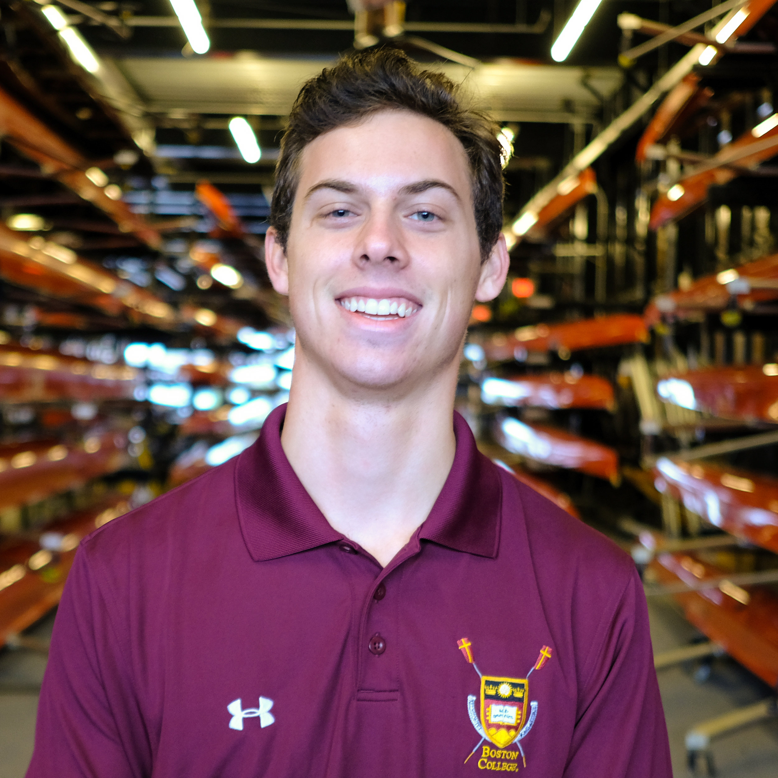 """Ian McPheters - Hometown: Wilmington, NCClass: 2022Height: 5'10"""" Weight: 155Bio: Ian is from Wilmington, North Carolina. He began rowing during his senior year at The Bolles School in Jacksonville, Florida, after eleven years of swimming competitively. He is a political science major."""