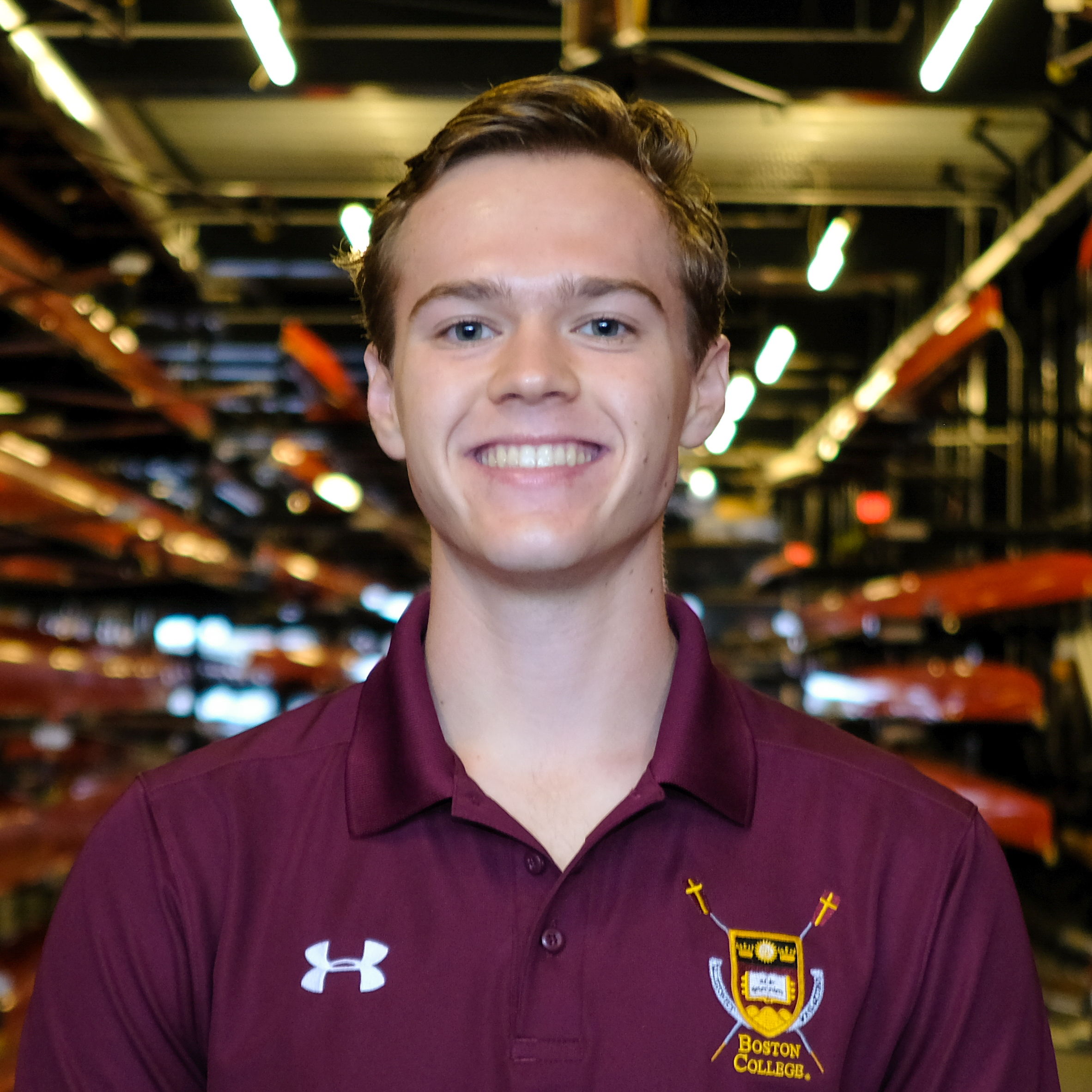 """Justin McMahon - Hometown: Buffalo, NYClass: 2021Height: 6'1"""" Weight: 180Bio: Justin was born and raised in Buffalo, the City of Good Neighbors and the pride of Western New York. Justin began his rowing career at Canisius High School where he won a NYS Championship in the Men's 4+. He also dabbles with hockey, cooking omelets, and Mamma Mia. He can draw a nice tree. At Boston College, Justin studies economics and volunteers with 4Boston. Quote: """"Hi, I'm Justin."""""""