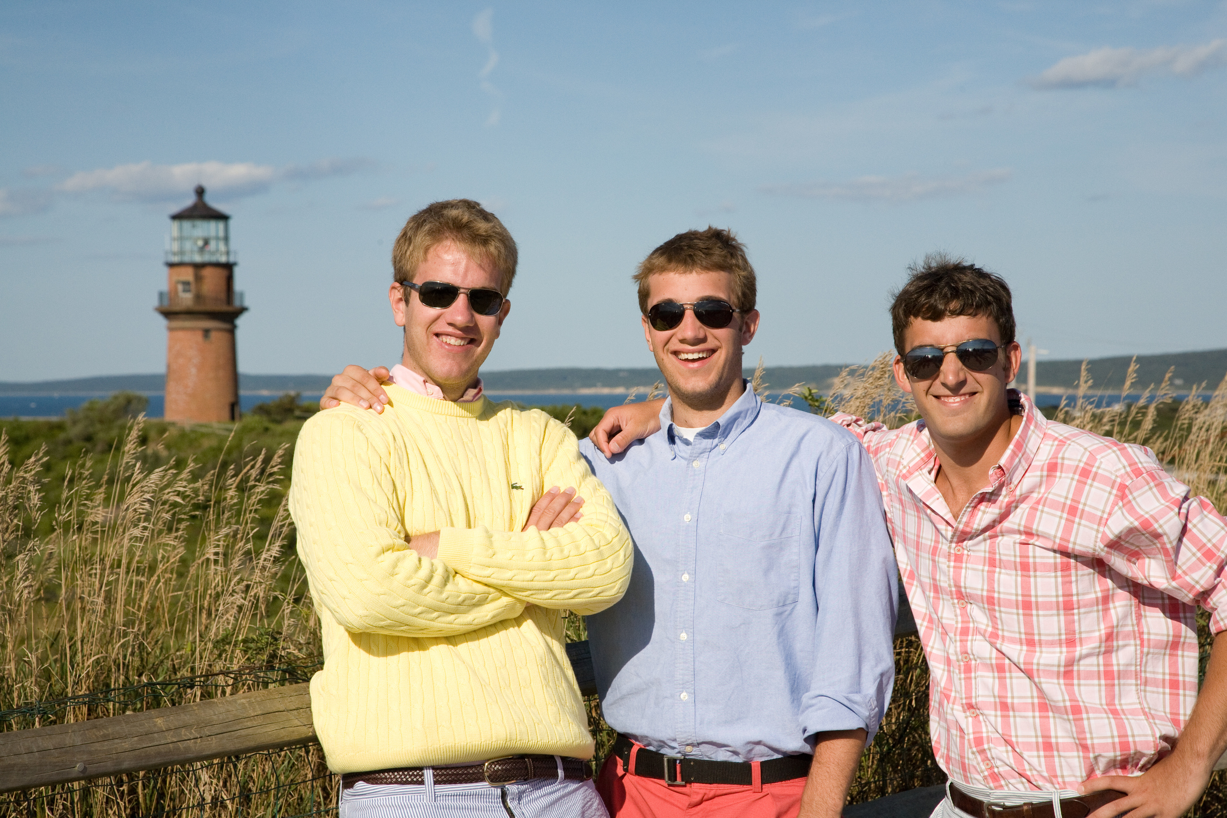 Three Boys at Aquinnah Lighthouse, Martha's Vineyard, MA