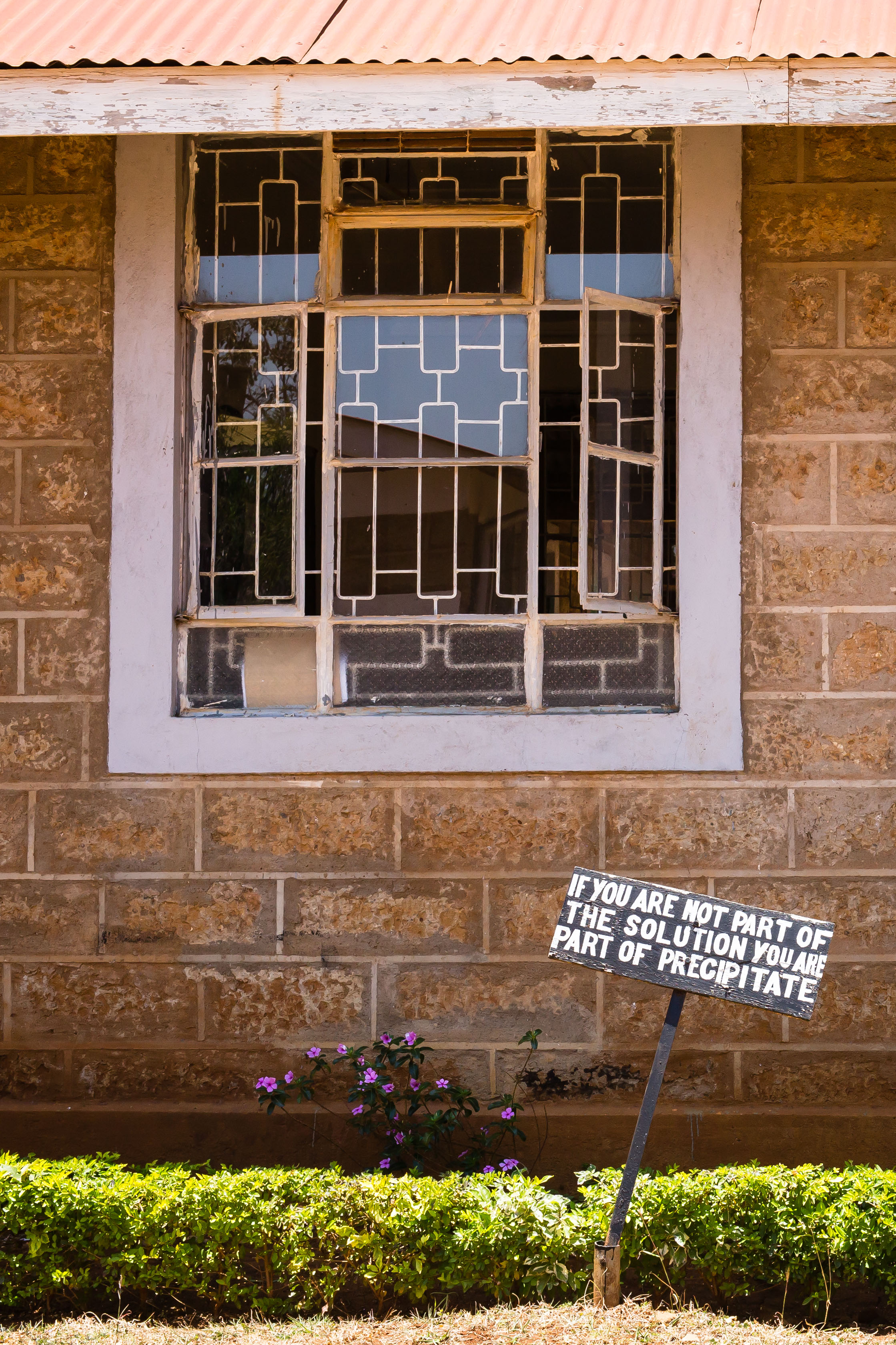 Seen Outside the Chemistry Lab, St. Mary's High School, Igoji, Kenya