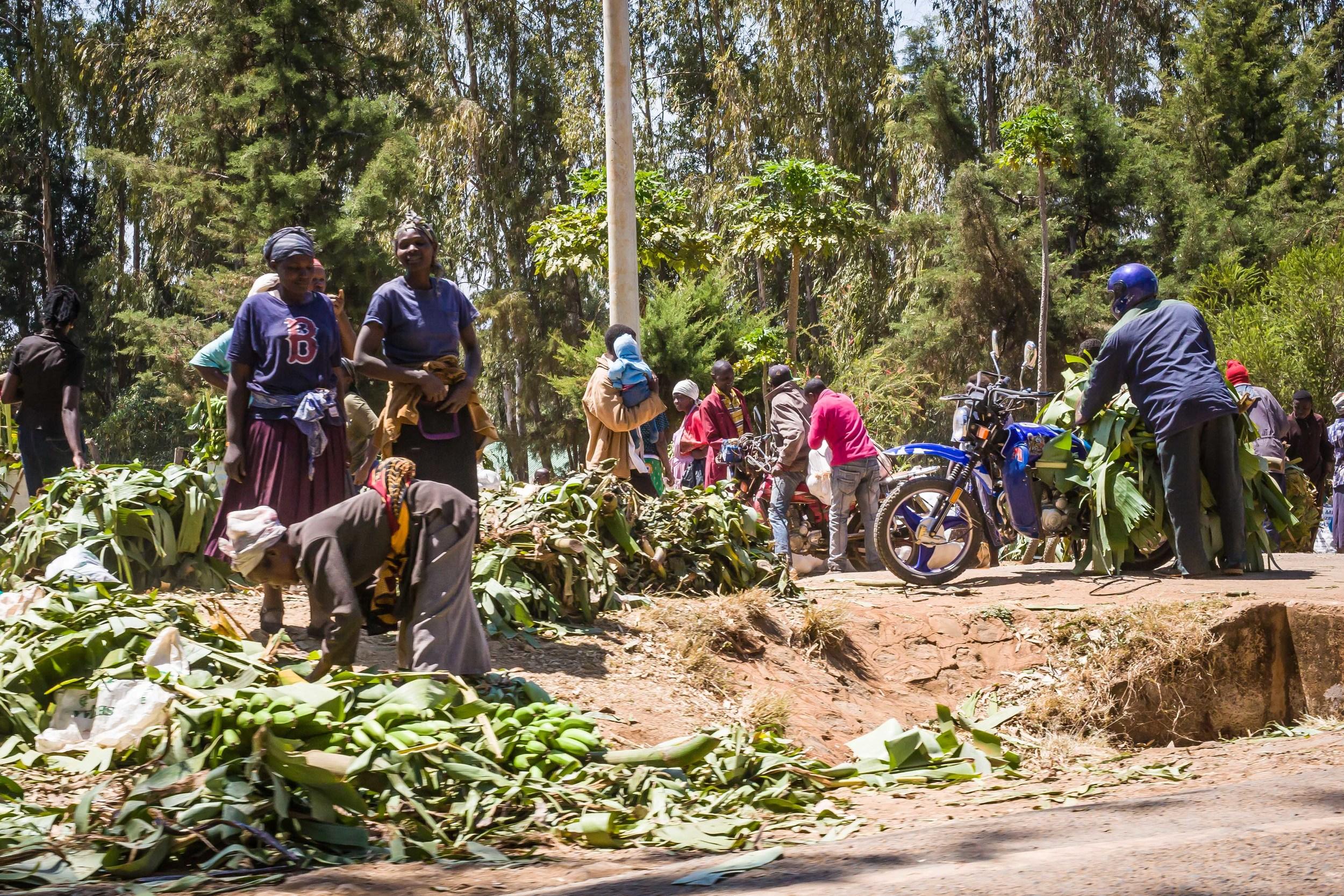 Banana Market, On the Road to Nairobi, Kenya
