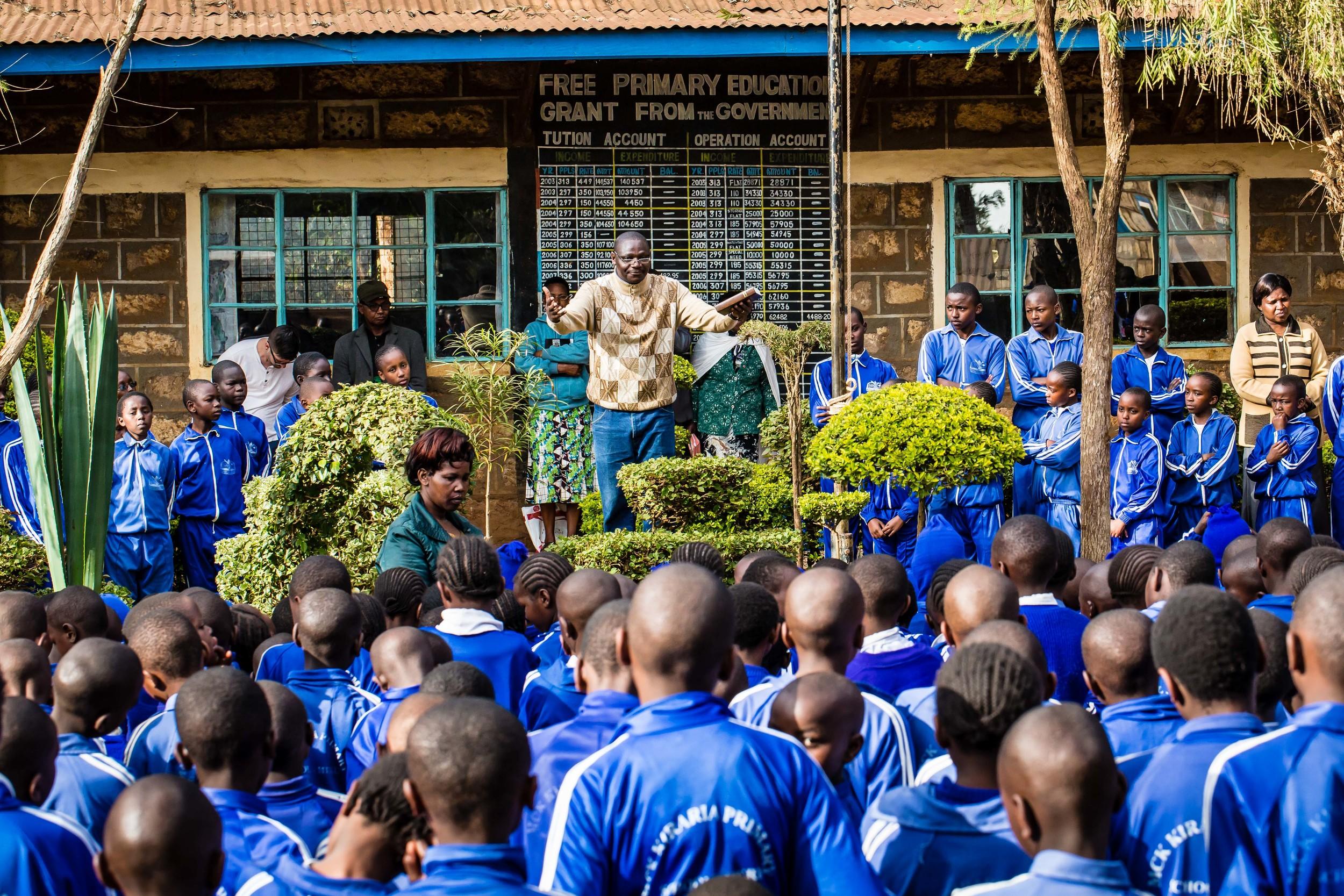 Pastor Jacob Preaching at Primary School