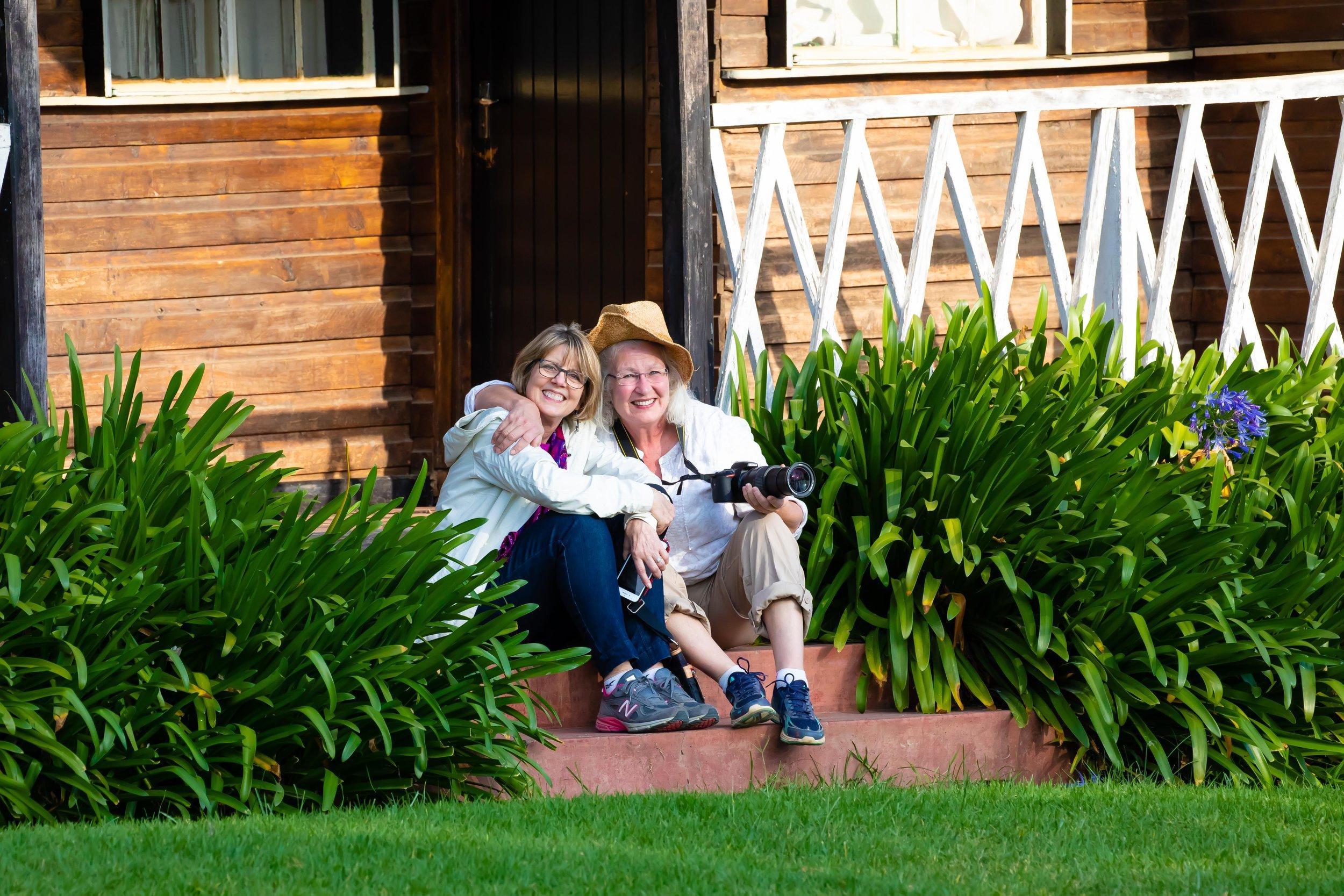 Cheryl and Sharla, The Sportsman's Arms Hotel, Nanyuki, Kenya
