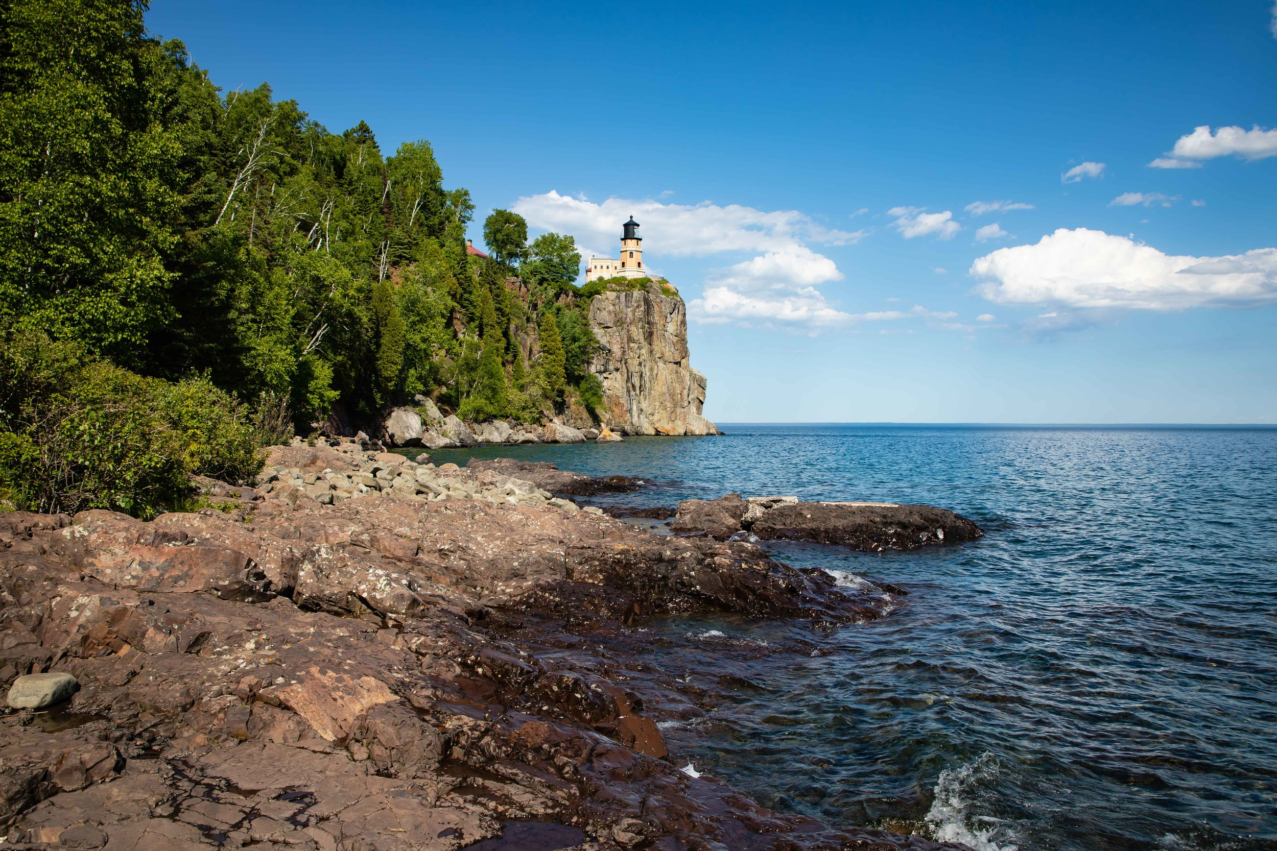 Split Rock Lighthouse, North Shore of Lake Superior, First Lit on July 31, 1910.