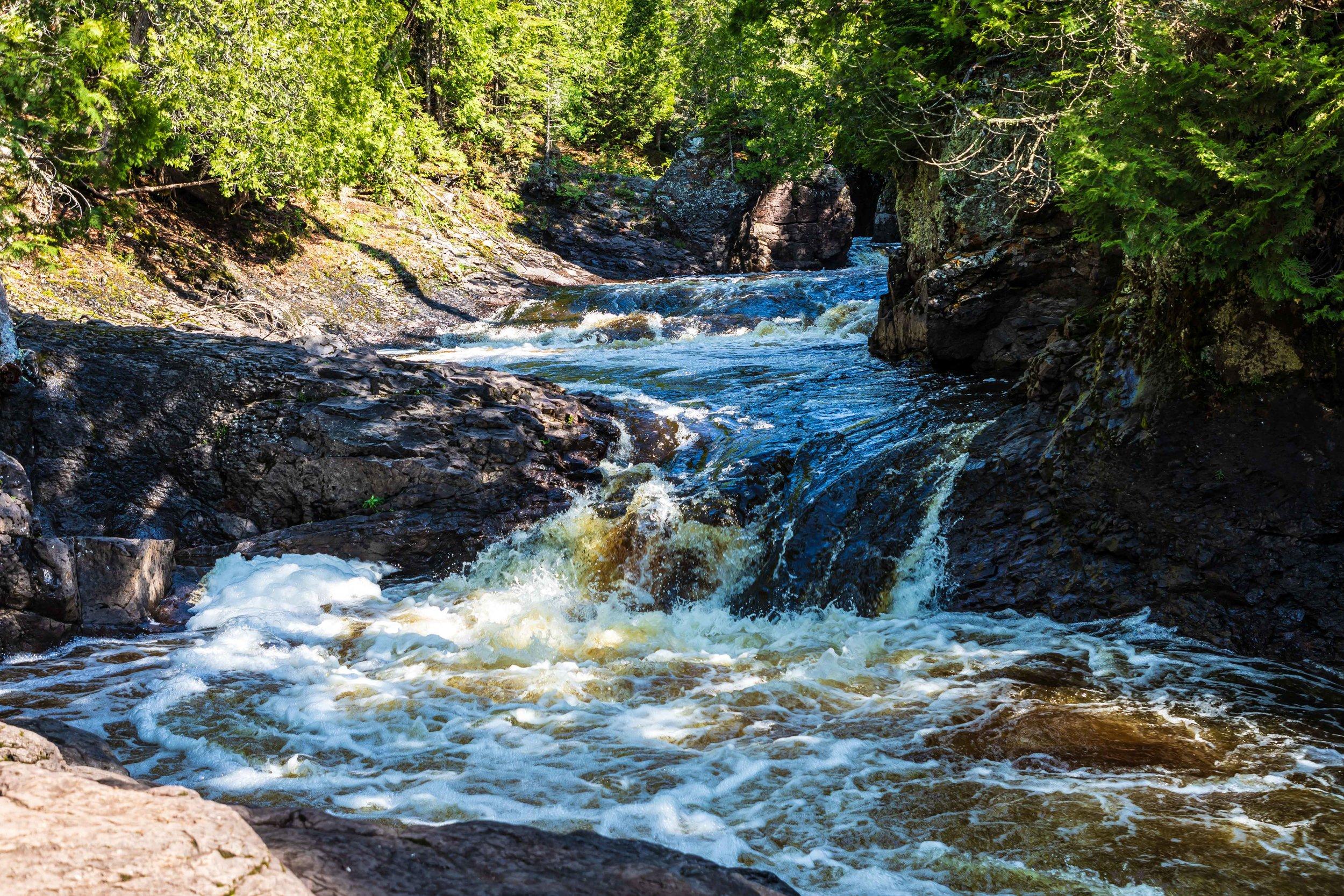 Minnesota North Shore: Waterfall 2