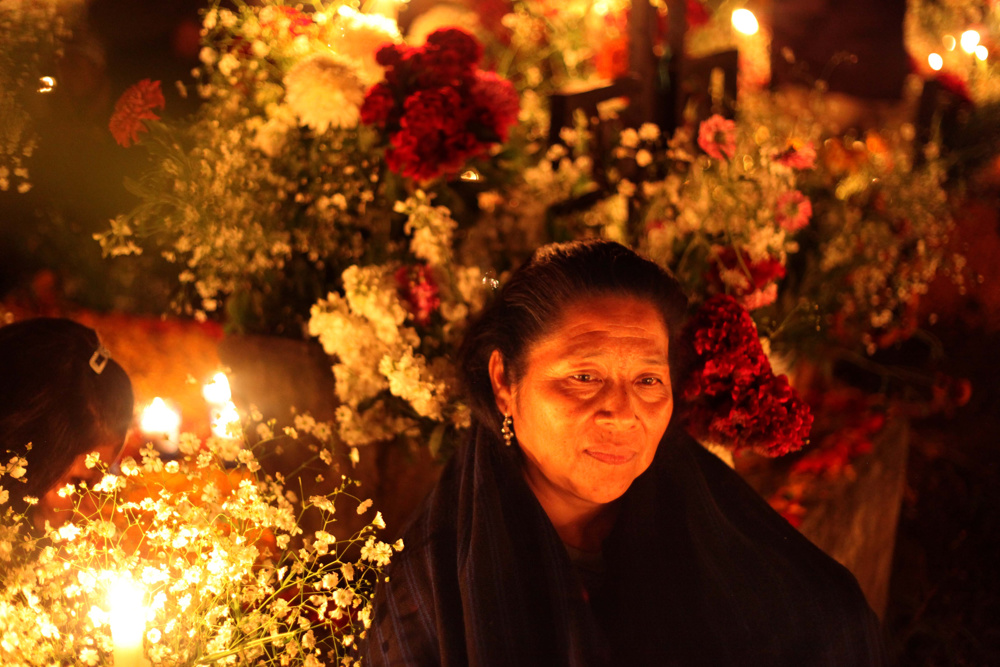 In the cemetery, Day of the Dead, Michoacan