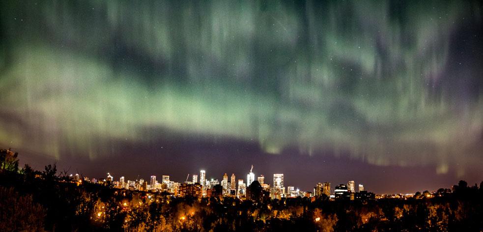 Aurora over Calgary