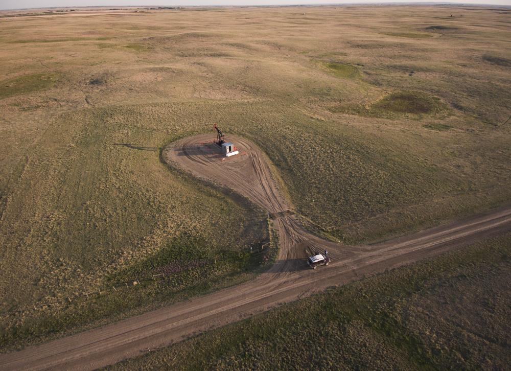 Pump Jack on the prairie near Gem