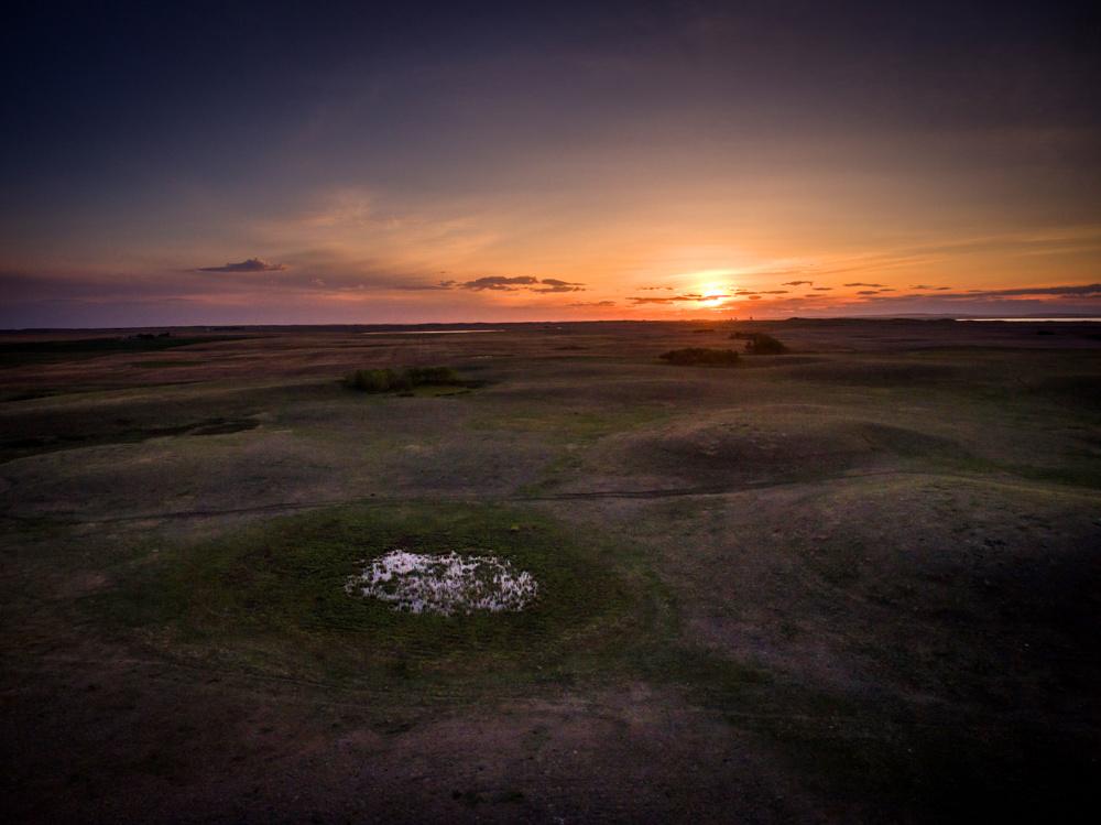 Sunset near Hussar