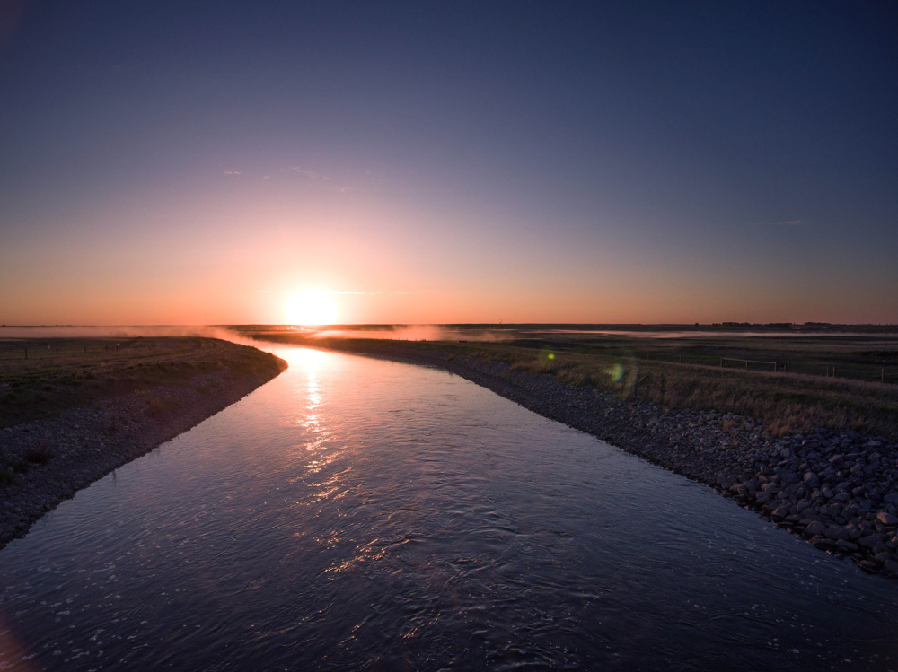 Sunrise near Langdon