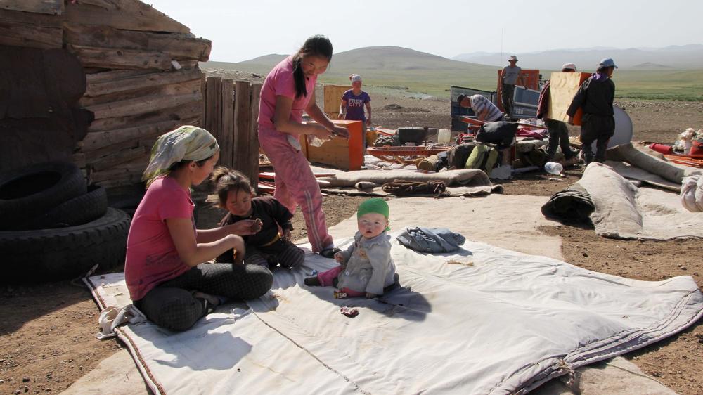 Nomadic family, central Mongolia