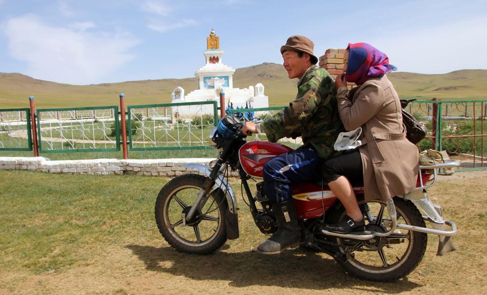 Heading to town, Mongolia