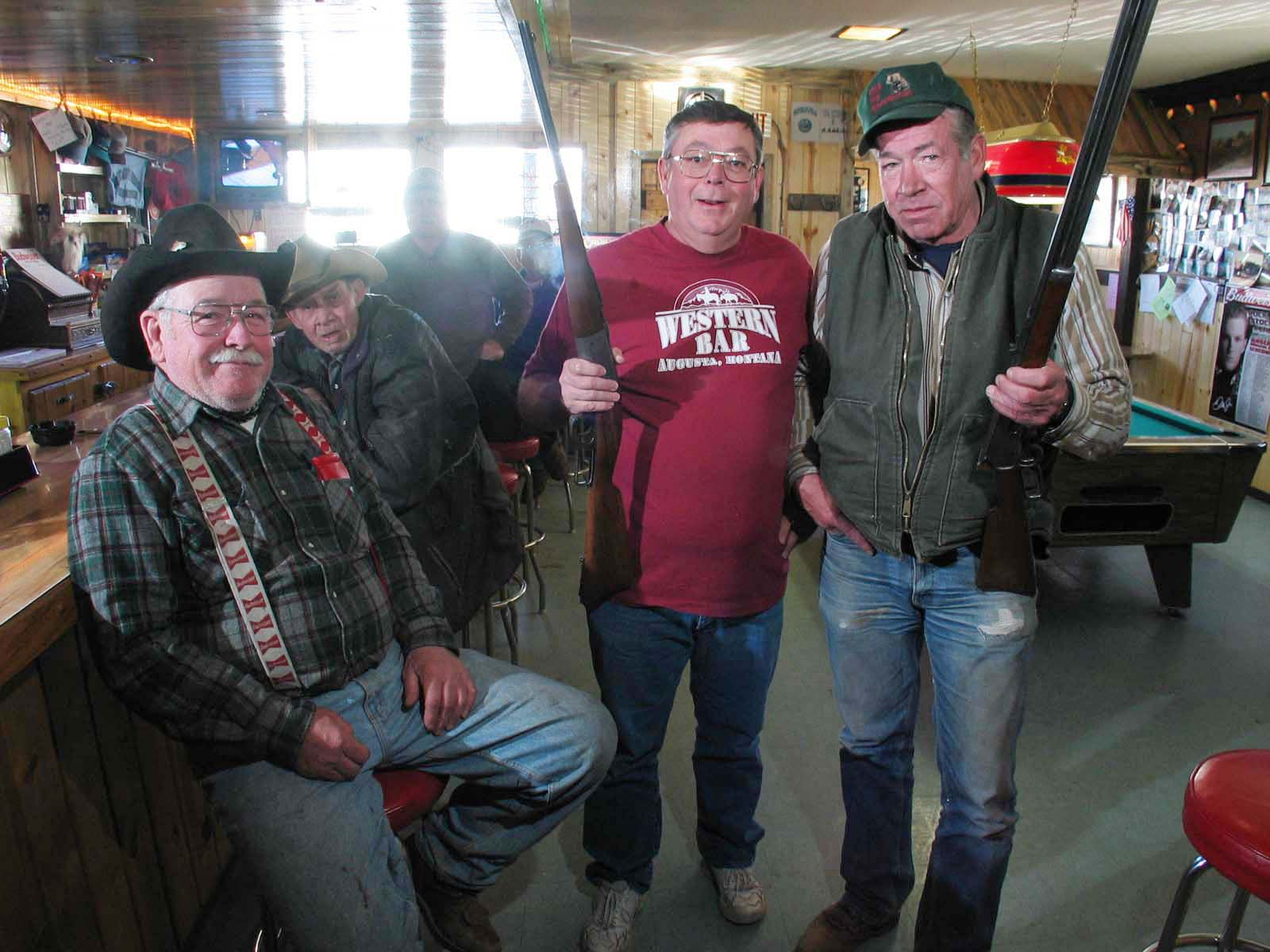 Gun collectors, Augusta, Montana