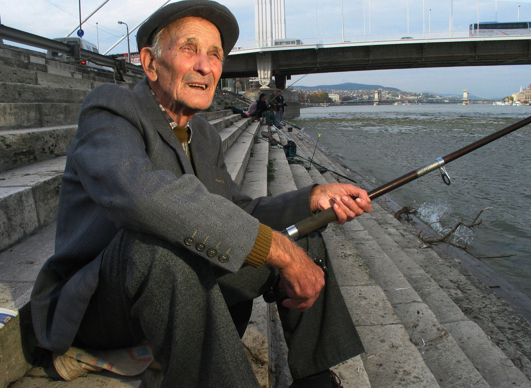 Fishing the Duna, Budapest